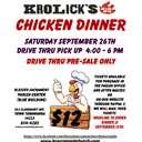 KROLICK'S CHICKEN BBQ DINNER