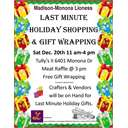 Last-minute holiday shopping & gift wrapping by the Madison-Monona...